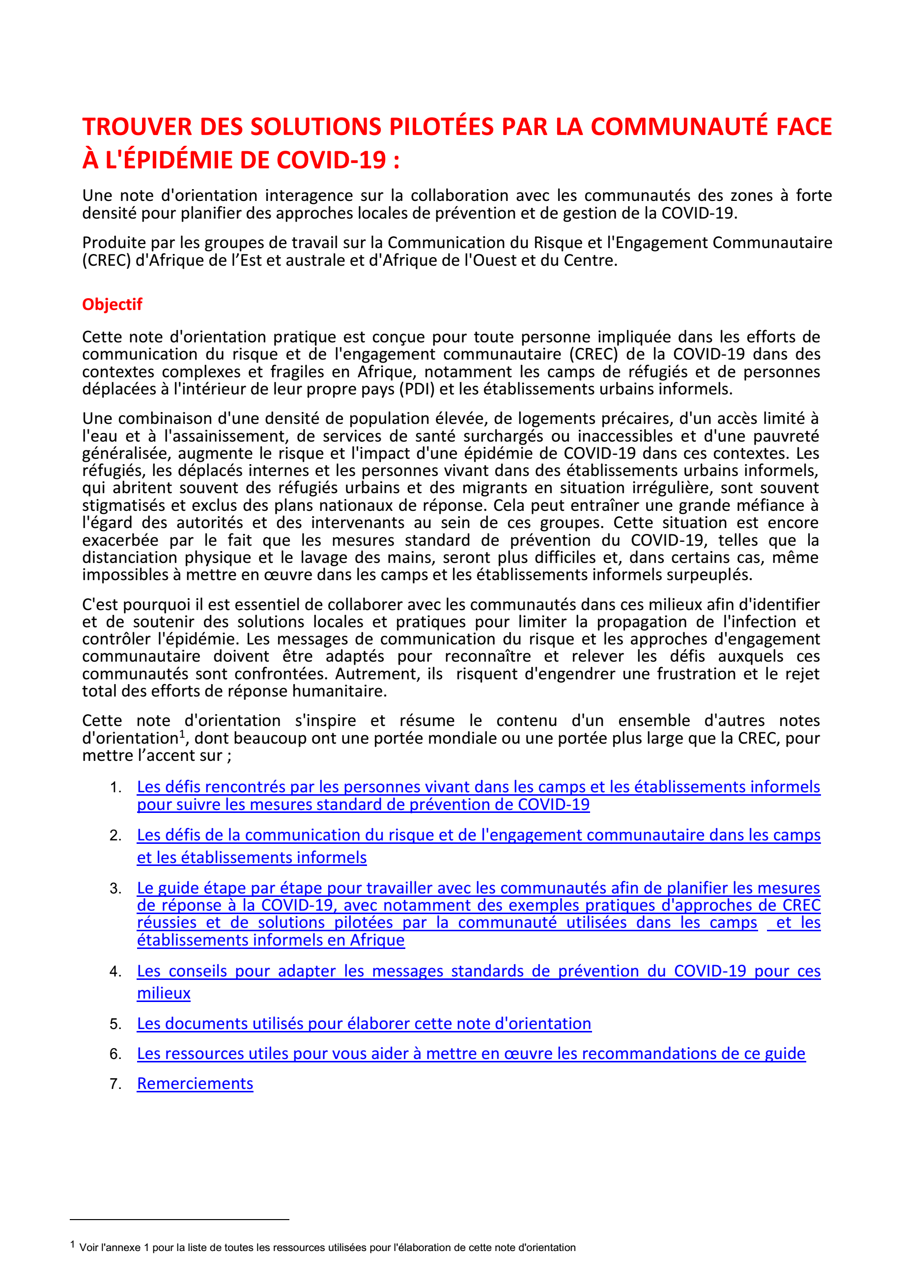 Community_Led_Solutions_COVID-19_Africa_Interagency_Guidance Note_FRA