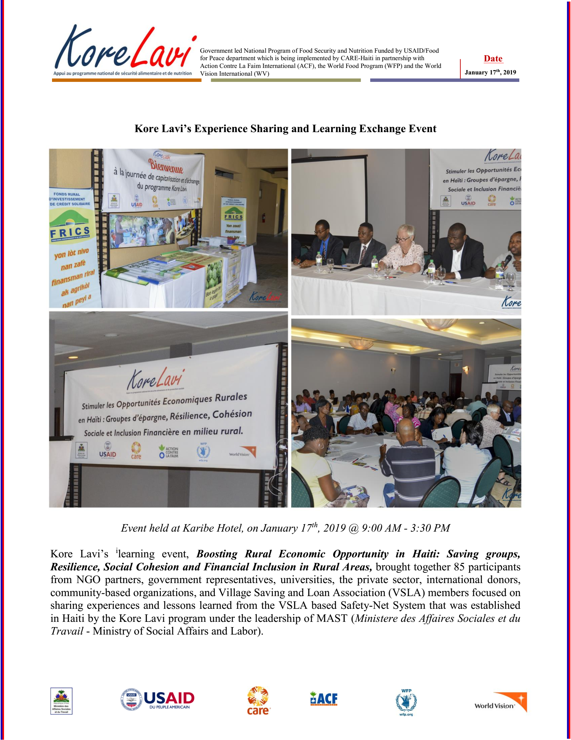 Kore Lavi's Experience Sharing and Learning Exchange Event