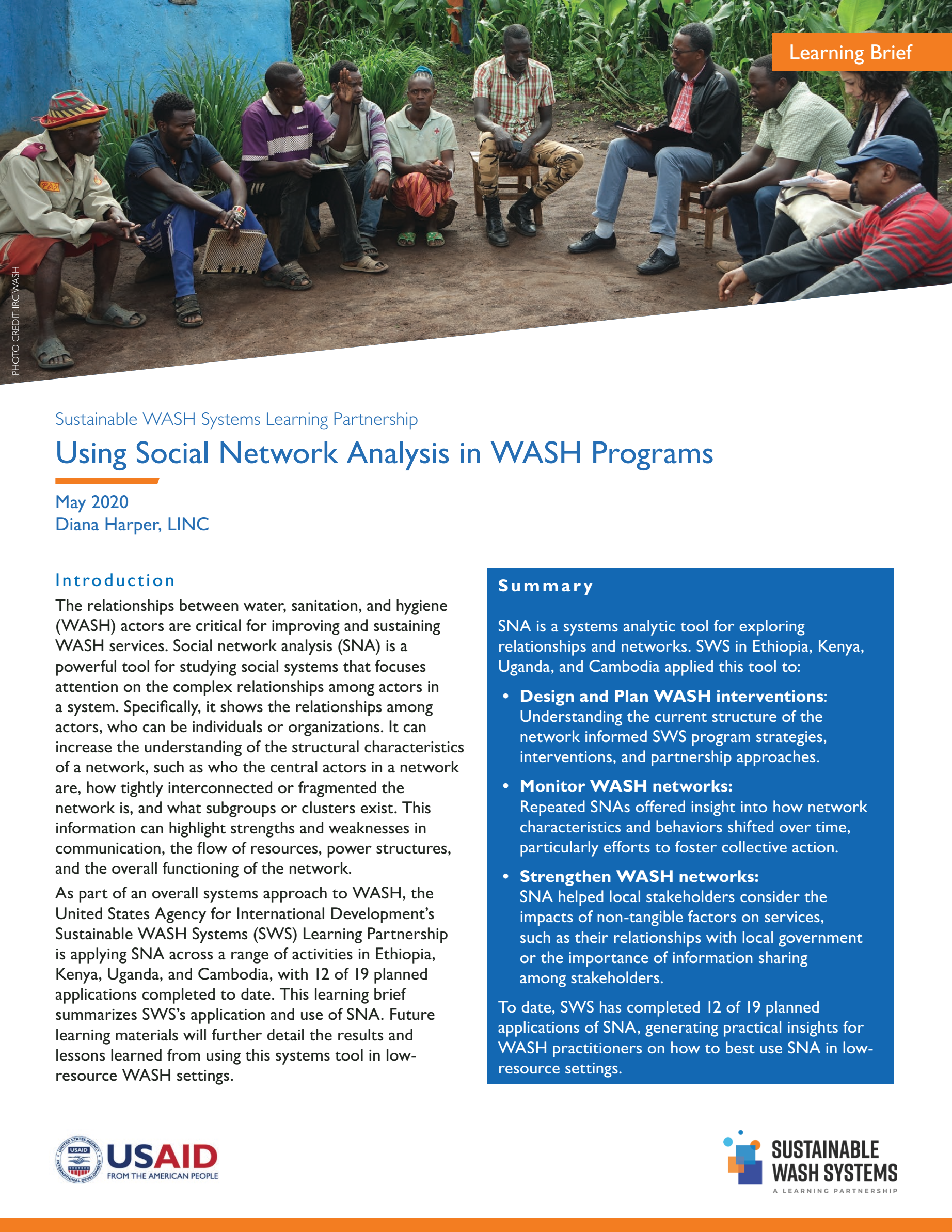 Using Social Network Analysis in WASH