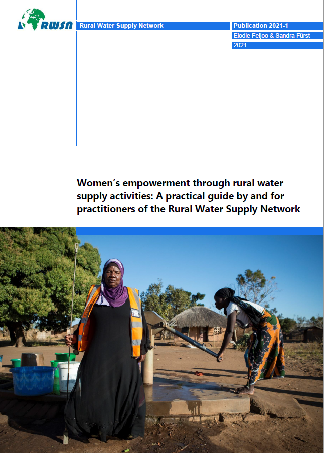 Cover page of RWSN resource on Women's Empowerment through rural water supply activities