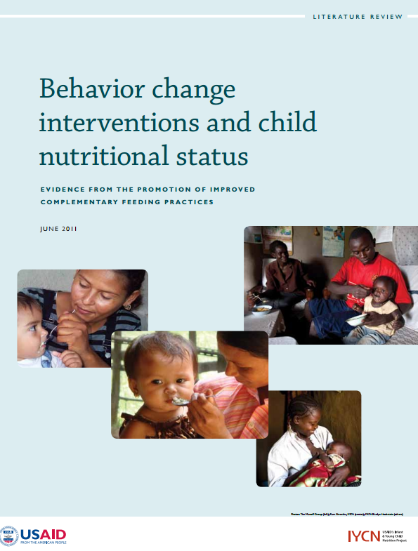 Download Resource: Behavior Change Interventions and Child Nutritional Status: Evidence from the Promotion of Improved Complementary Feeding Practices