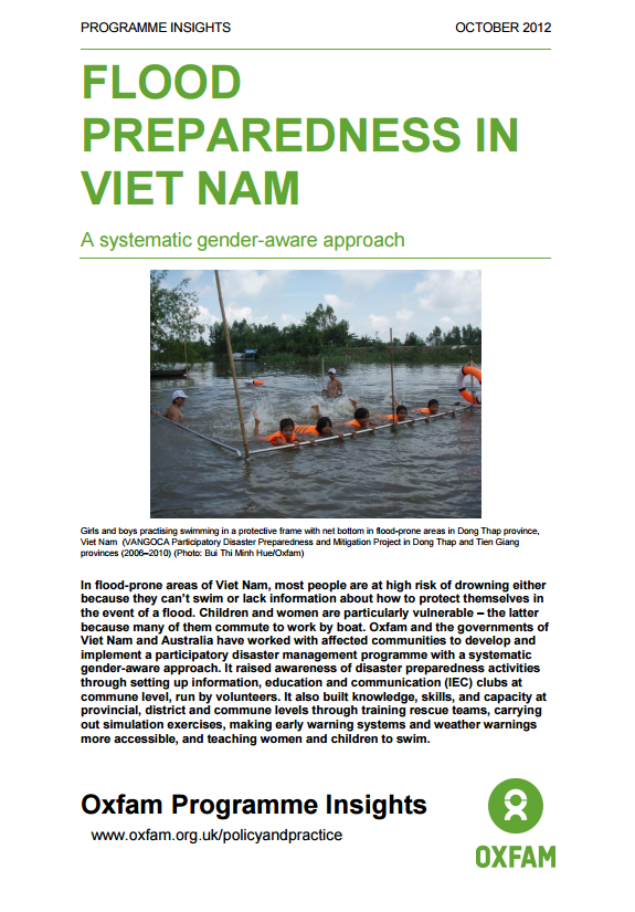Download Resource: Flood Preparedness in Viet Nam: A Systematic Gender-Aware Approach
