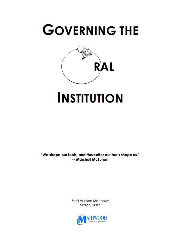 Download Resource: Governing the Oral Institution