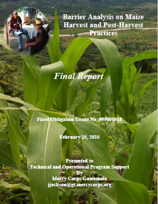Download Resource: Barrier Analysis on Maize Harvest and Post-Harvest Practices