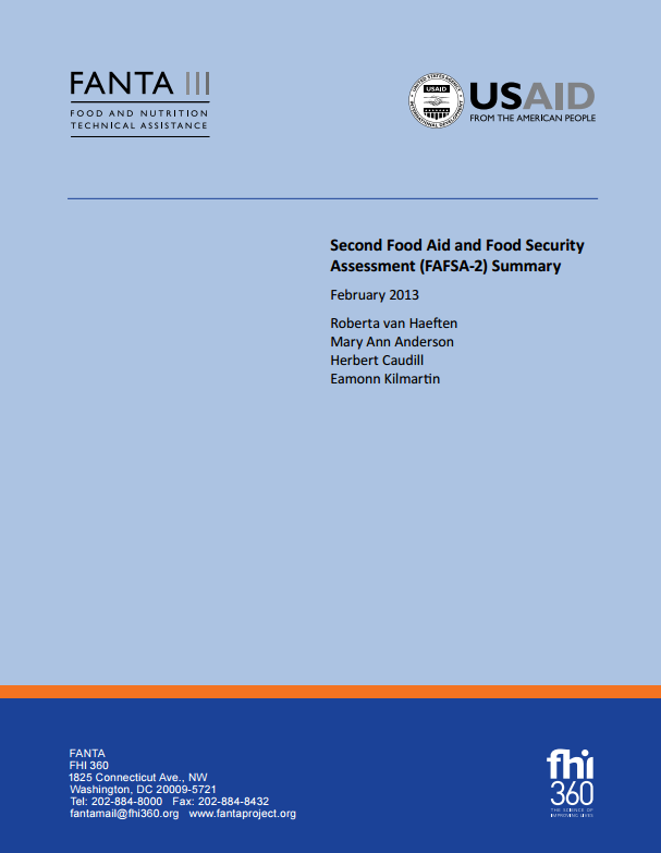 Download Resource: Second Food Aid and Food Security Assessment (FAFSA-2)