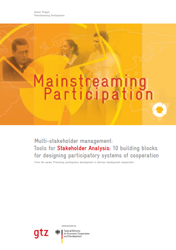 Download Resource: Tools for Stakeholder Analysis: 10 Building Blocks for Designing Participatory Systems of Cooperation