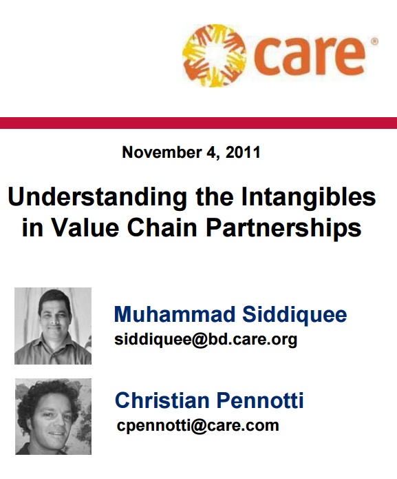 Download Resource: Understanding the Intangibles in Value Chain Partnerships