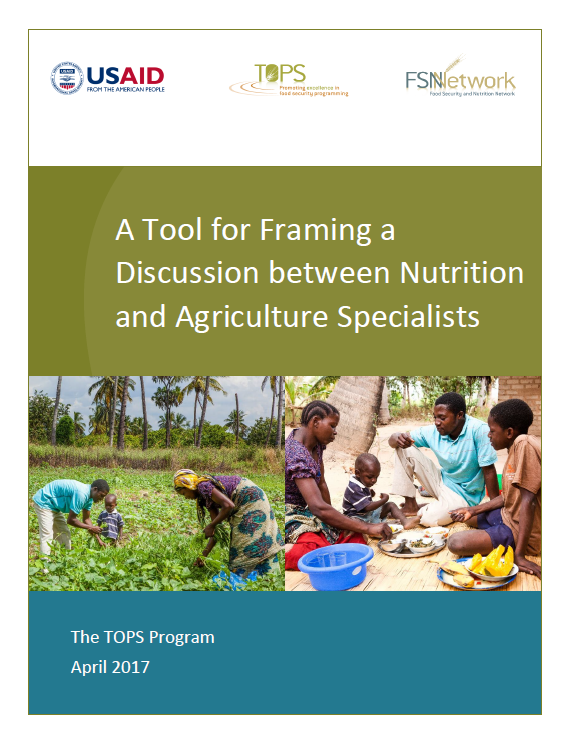 Download Resource: Tool for Framing a Discussion Between Nutrition and Agriculture Specialists