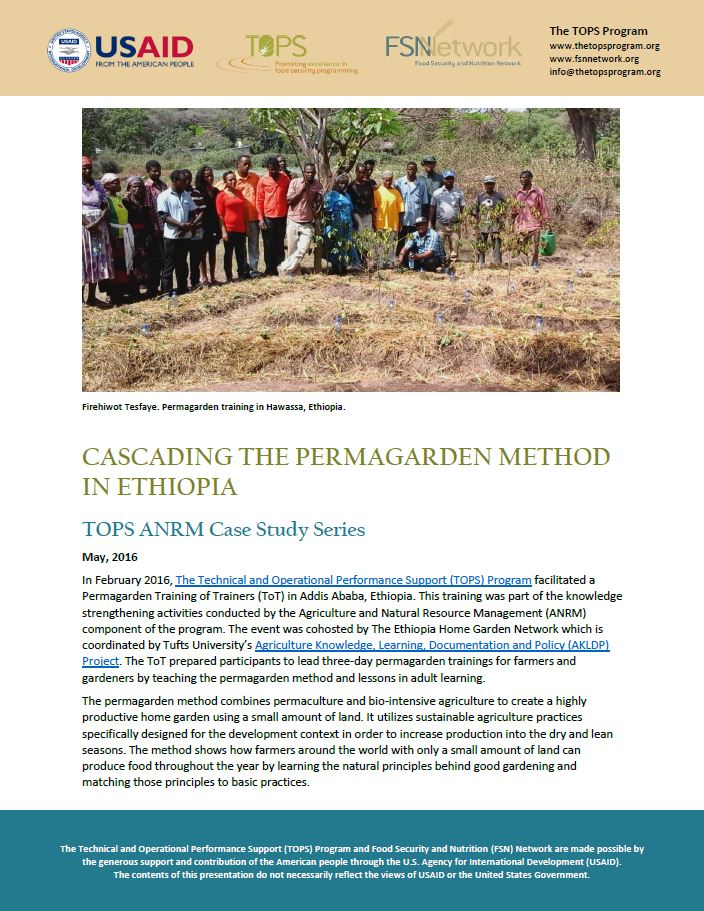 Download Resource: TOPS ANRM Case Study: Cascading the Permagarden Method in Ethiopia