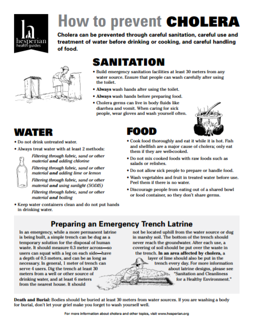 Download Resource: How to Prevent Cholera