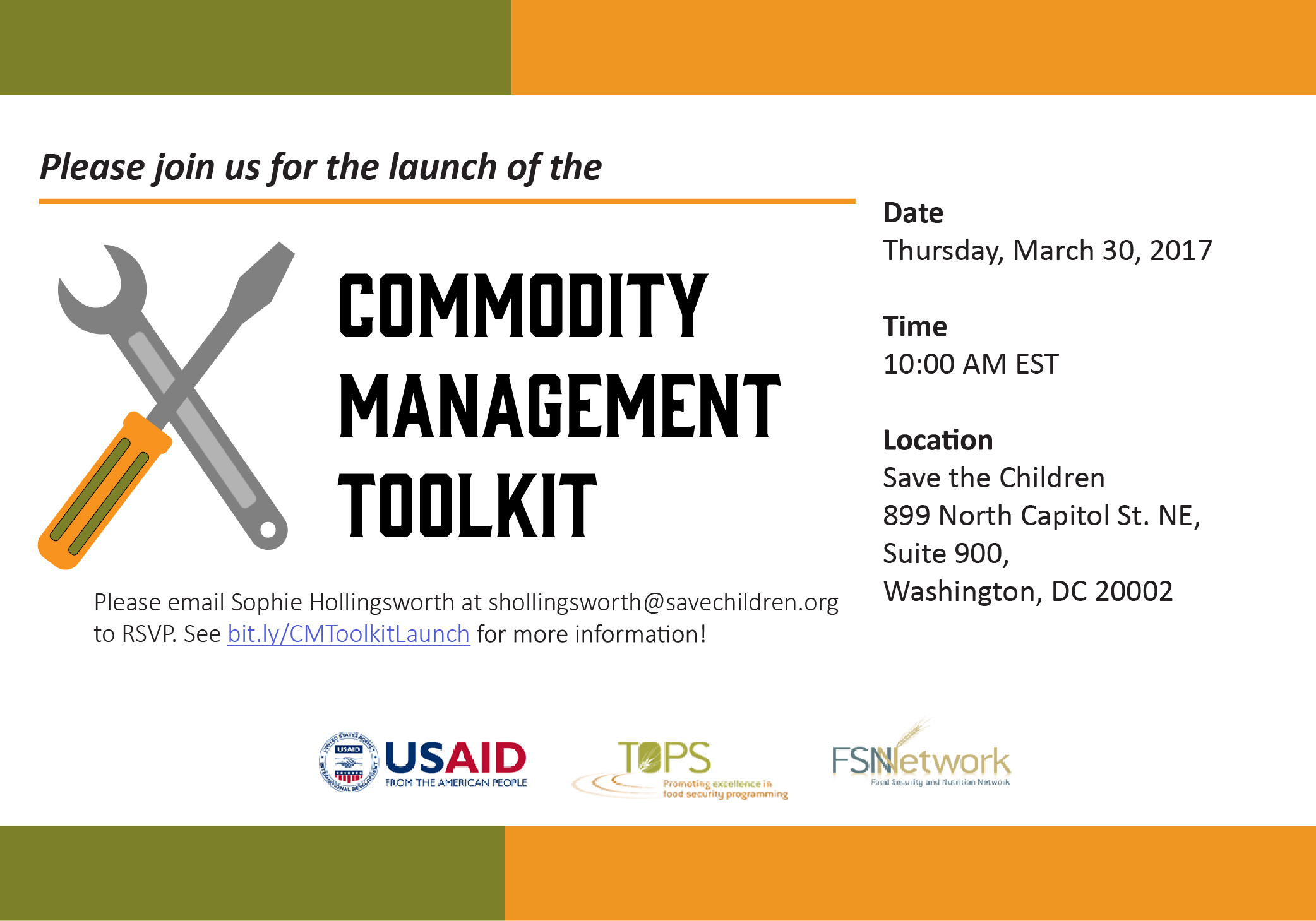 The Commodity Management Toolkit Launch Food Security