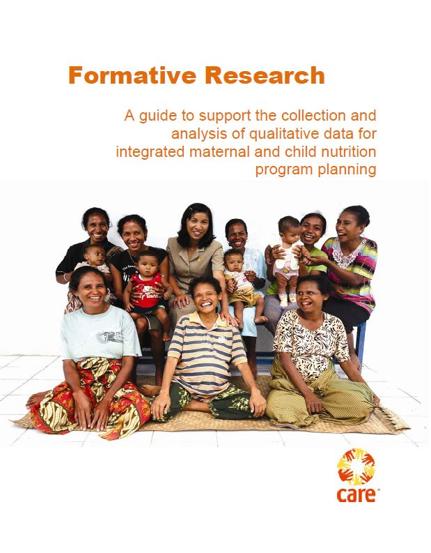 Download Resource: Formative Research: A Guide to Support the Collection and Analysis of Qualitative Data for Integrated Maternal and Child Nutrition Program Planning