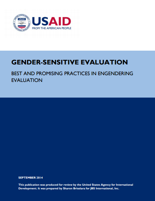 Download Resource: Gender-Sensitive Evaluation: Best and Promising Practices in Engendering Evaluation