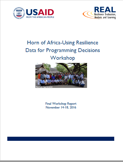 Download Resource: Horn of Africa - Using Resilience Data for Programming Decisions Workshop Final Report