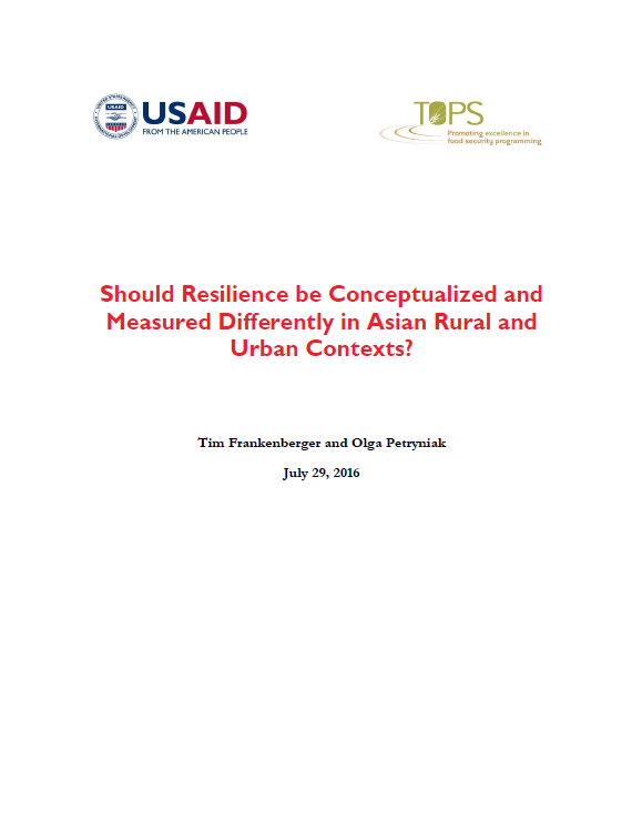 Download Resource: Should Resilience be Conceptualized and Measured Differently in Asian Rural and Urban Contexts?