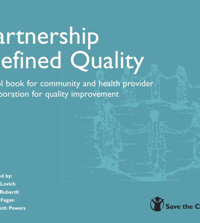 Partnership Defined Quality: a tool book for community and health provider collaboration for quality improvement