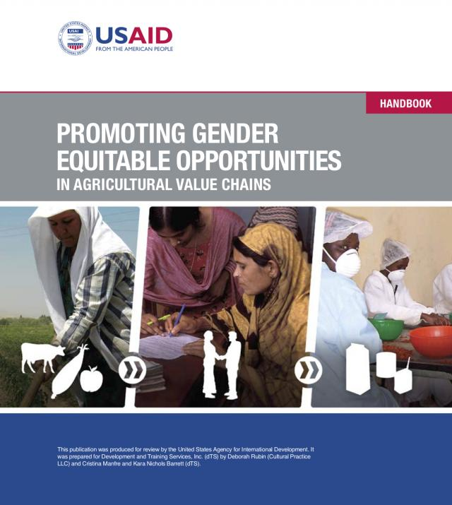 Promoting Gender Equitable Opportunities in Agricultural Value Chains Handbook