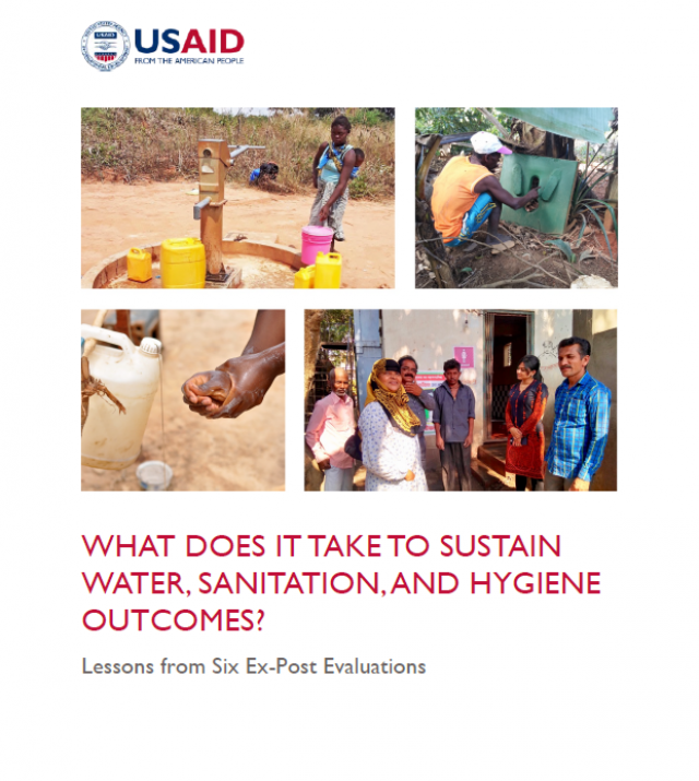Cover page of USAID report What Does It Take To Sustain Water, Sanitation and Hygiene Outcomes?