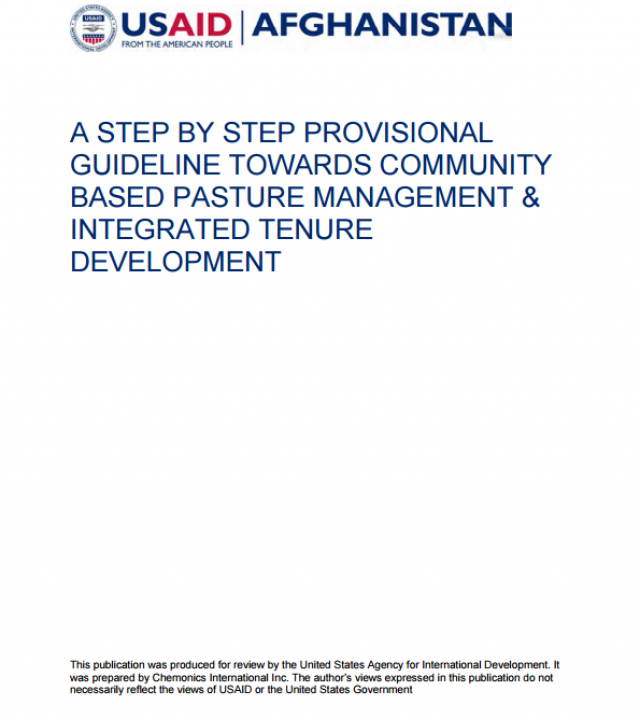 Download Resource: A Step-by-Step Provisional Guideline Towards Community-Based Pasture Management and Integrated Development