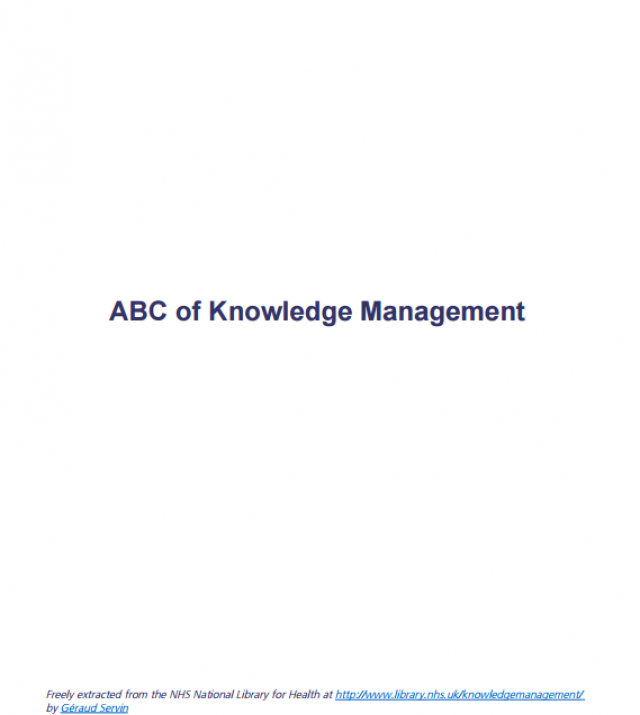 Download Resource: ABC of Knowledge Management