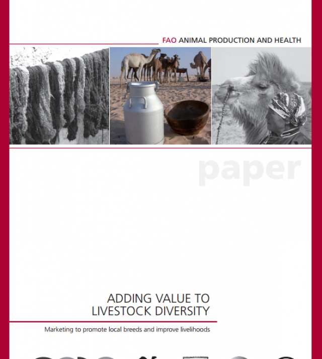 Download Resource: Adding Value to Livestock Diversity—Marketing to Promote Local Breeds and Improve Livelihoods