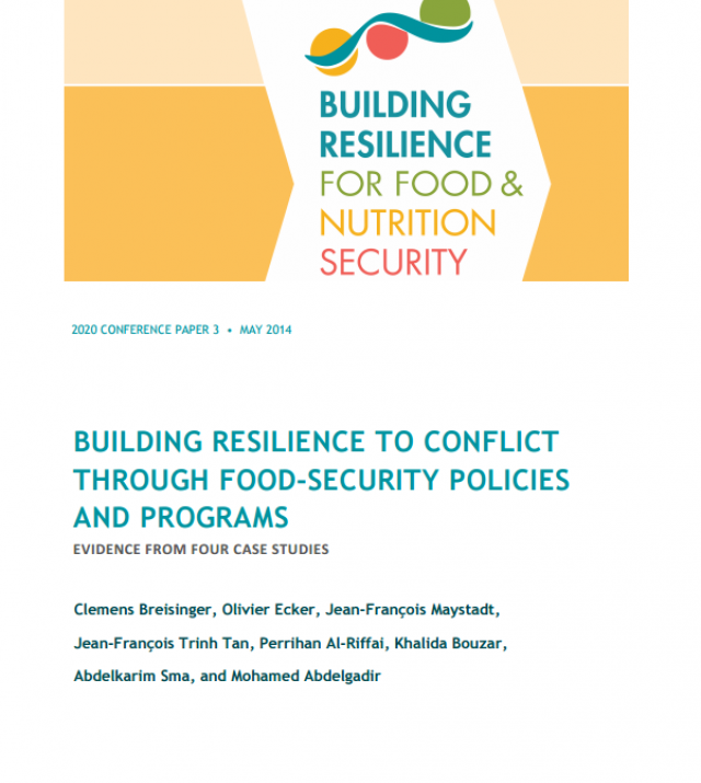 Download Resource: Building Resilience to Conflict through Food Security Policies and Programs