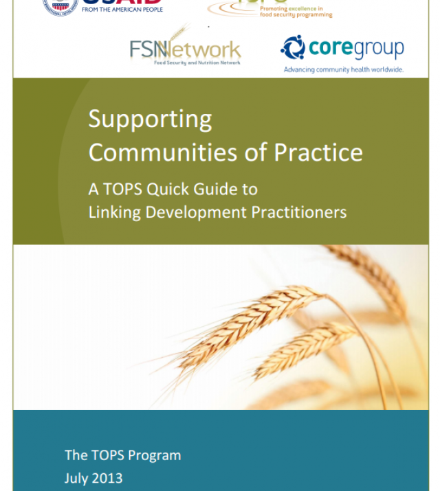 Download Resource: Supporting Communities of Practice: A TOPS Quick Guide to Linking Development Practitioners