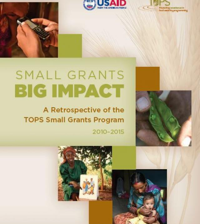 Download Resource: Small Grants, Big Impact: A Retrospective of the TOPS Small Grants Program 2010-2015