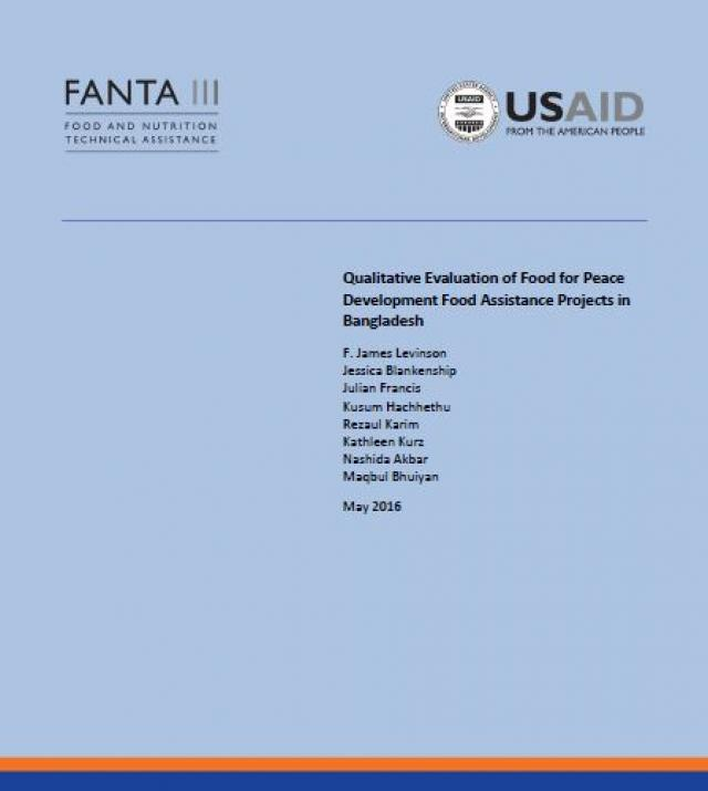 Download Resource: Qualitative Evaluation of Food for Peace Development Food Assistance Projects in Bangladesh