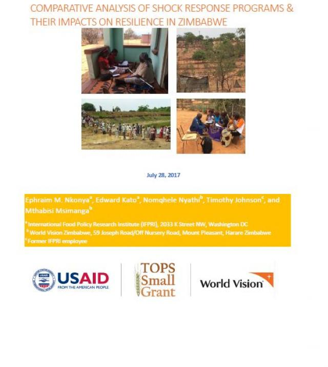 Download Resource: Comparative Analysis of Shock Response Programs & Their Impacts on Resilience in Zimbabwe