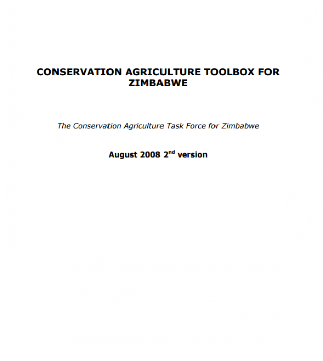 Download Resource: Conservation Agriculture Toolbox for Zimbabwe