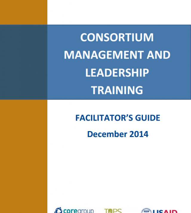 Download Resource: Consortium Management and Leadership Training Facilitator's Guide