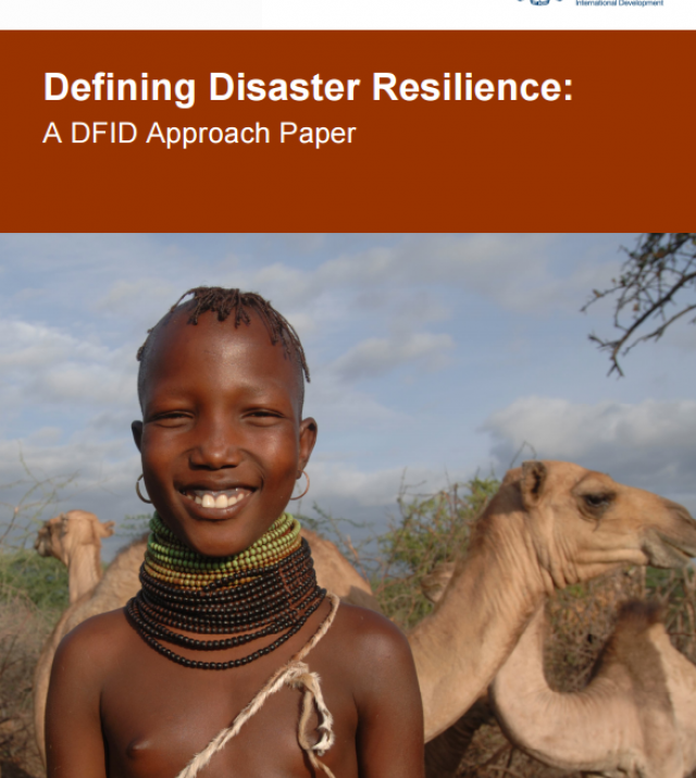 Download Resource: Defining Disaster Resilience: A DFID Approach Paper