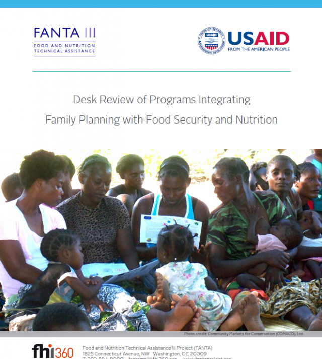 Download Resource: Desk Review of Programs Integrating Family Planning with Food Security and Nutrition