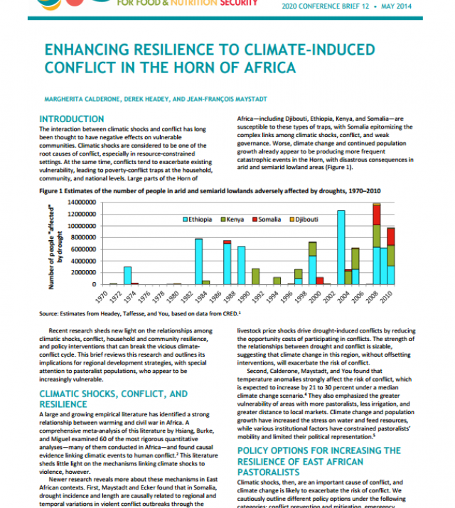 Download Resource: Enhancing Resilience to Climate-Induced Conflict in the Horn of Africa