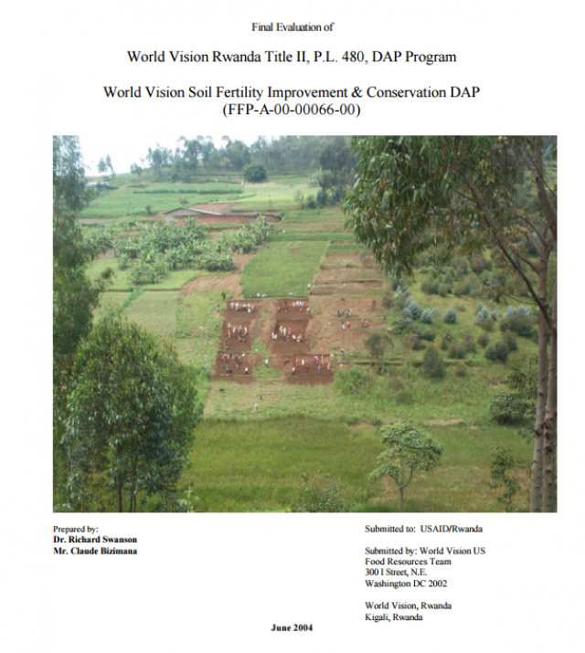 Download Resource: Final Evaluation of Soil Fertility Improvement & Conservation, DAP, World Vision
