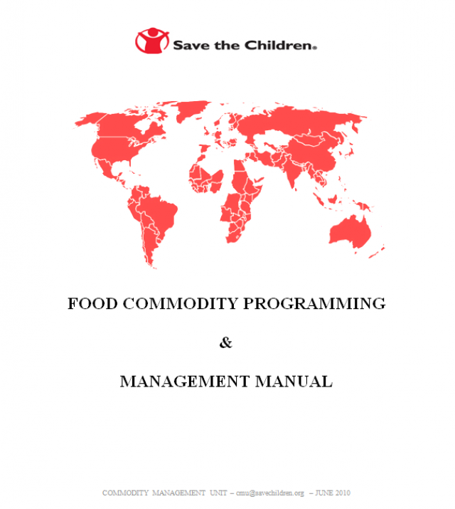 Download Resource: Food Commodity Programming & Management Manual