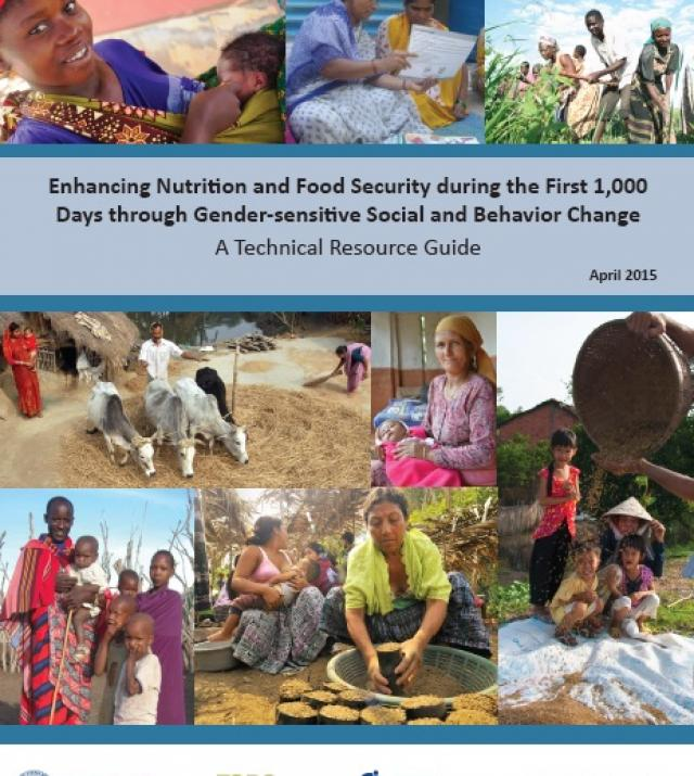 Download Resource: Enhancing Nutrition and Food Security during the First 1,000 Days through Gender-sensitive Social and Behavior Change
