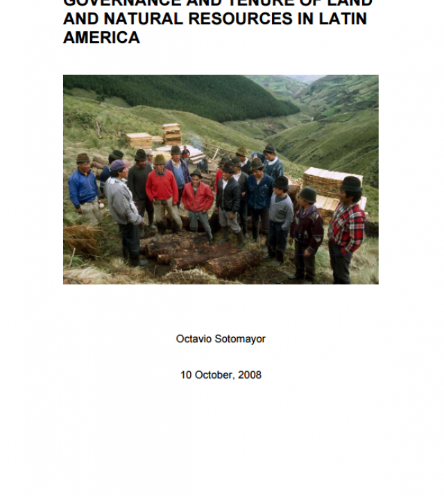 Download Resource: Governance and Tenure of Land and Natural Resources in Latin America