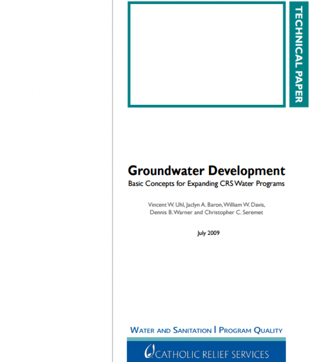 Download Resource: Groundwater Development: Basic Concepts for Expanding CRS Water Program