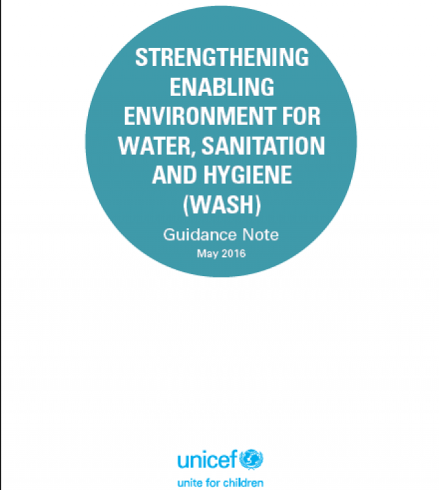 Download Resource: Strengthening Enabling Environment for Water, Sanitation and Hygiene (WASH) - Guidance Note