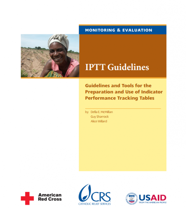 Download Resource: IPTT Guidelines: Guidelines and Tools for the Preparation and Use of Indicator Performance Tracking Tables
