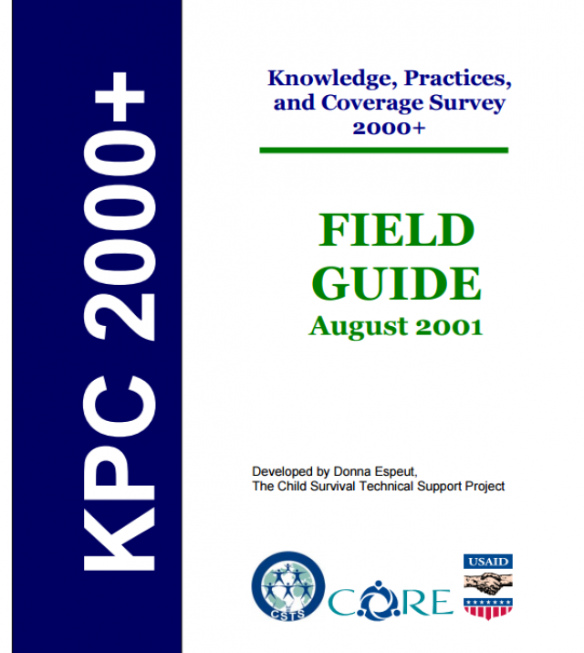 Download Resource: Knowledge, Practices,and Coverage Survey 2000+ Field Guide