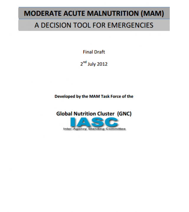 Download Resource: Moderate Acute Malnutrition (MAM): A Decision Tool for Emergencies