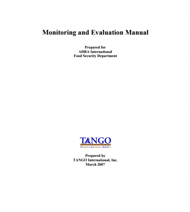 Download Resource: Monitoring and Evaluation Manual