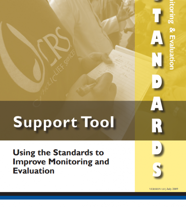 Download Resource: Monitoring and Evaluation Standards Support Tool