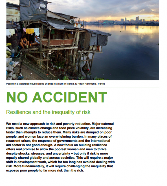 Download Resource: No Accident: Resilience and the Inequality of Risk