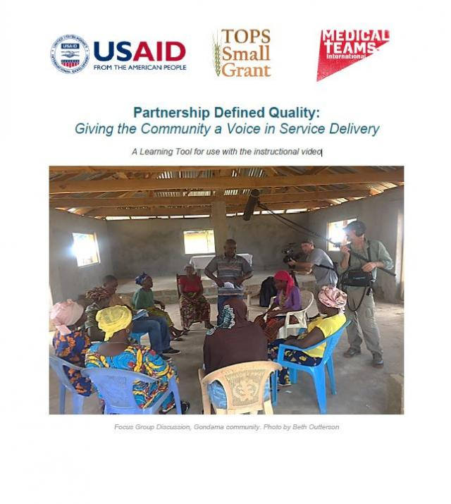 Download Resource: Partnership Defined Quality: Giving the Community a Voice in Service Delivery - A Learning Tool