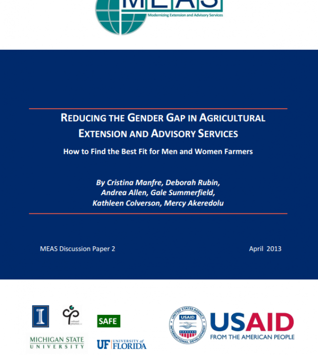 Download Resource: Reducing The Gender Gap in Agricultural Extension and Advisory Services