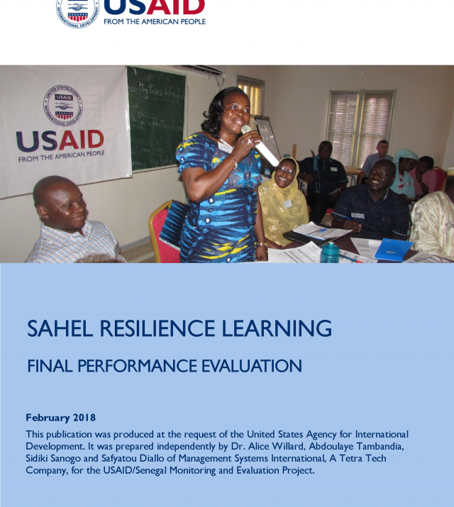 Cover image of the Sarel final evaluation report